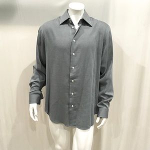 Giorgio Armani Men's Gray Textured Dress Shirt
